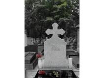 Monument funerar ortodox simplu din granit