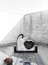 Monumentul funerar de granit negru