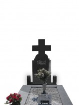 Monument funerar cu cruce negru abanos