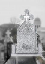 monument funerar bizantin simplu cu sculptura