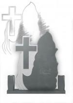 Cruce funerara flacara