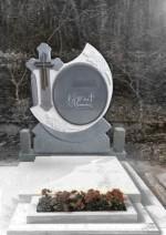 Cruce funerara oglinda gri inchis