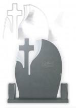 Cruce funerara simpla floare granit