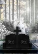 Monument funerar dublu cu cruce