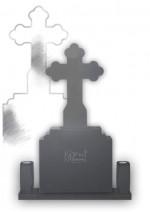 monument funerar clasic cu cruce trifoi